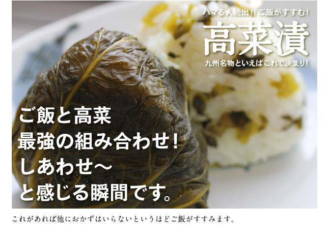 九州の名産 高菜漬 お土産